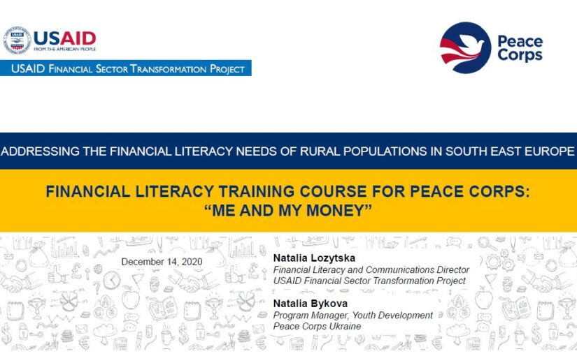 "Presentation ""Financial Literacy Training Course For Peace Corps: ""Me and My Money"""