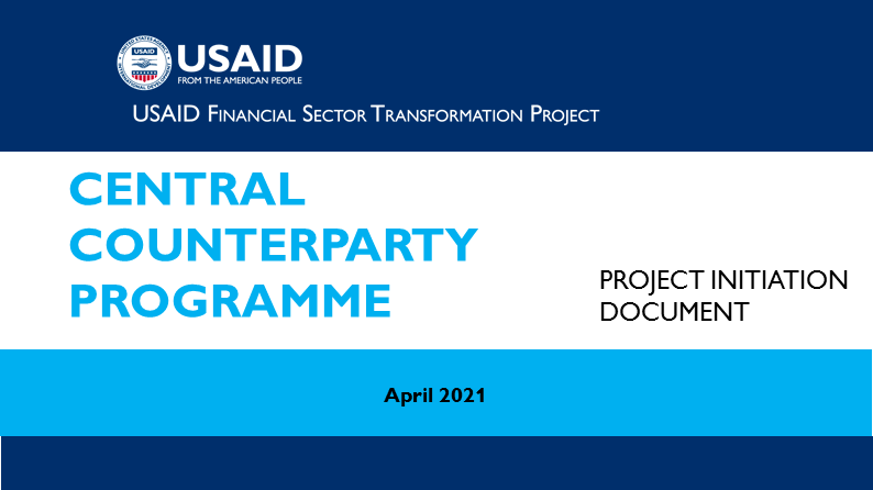 (English) PROJECT INITIATION DOCUMENT. Central Counterparty Programme